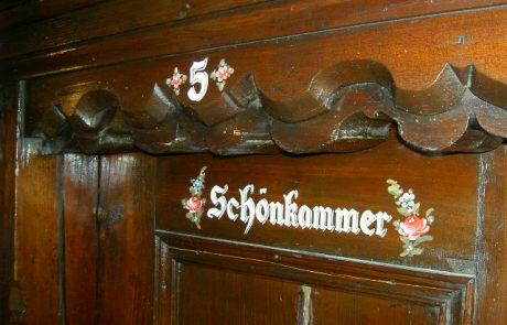 Zimmertür Schönkammer am Peternhof in Kirchberg in Tirol